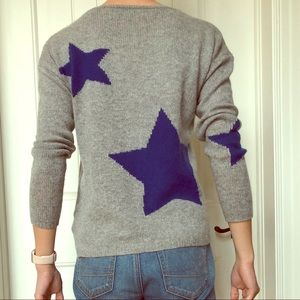 Cashmere Star Backed Grey Sweater